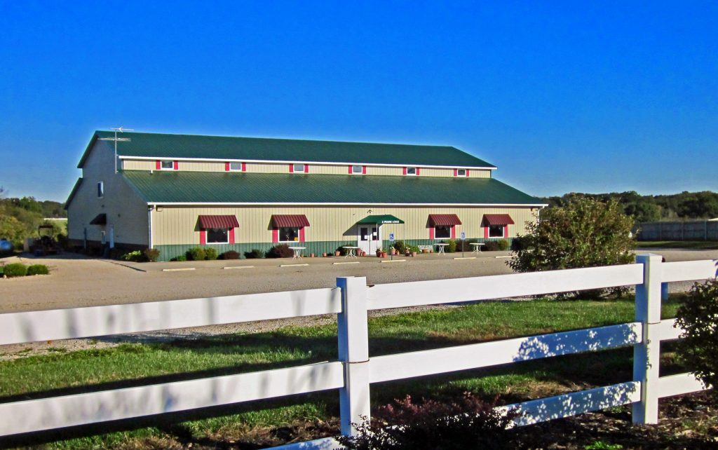 Event Center of A Prairie Lodge and Morris Co. building