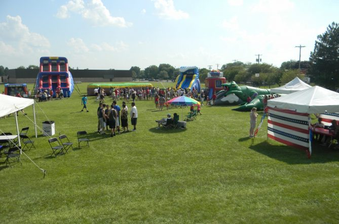 Corporate Event Setup, tents, chairs, games, and more