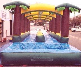 End of Hawaiian Slip 'N Slide with splash pool