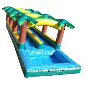 Hawaiian Slip 'N Slide with splash pool