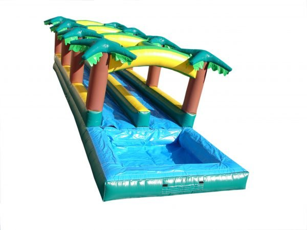 Hawaiian Slip 'N Slide with splash pool